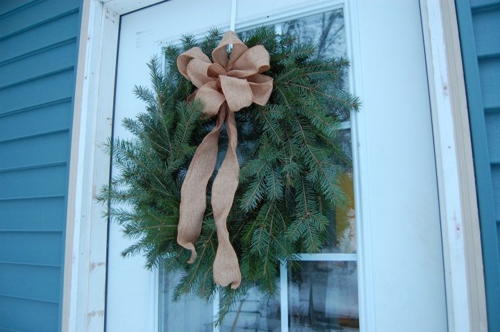 12-14-13 wreath on door
